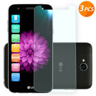 For LG X Charge/X Power 2 3/ Fiesta 3-Pack Clear Tempered Glass Screen Protector