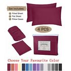 4 Piece Bed Sheet Pillowcase Set Deep Pocket Fitted Sheet 1800 Count Microfiber image