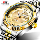 TEVISE Men Mechanical Watch Automatic Business Waterproof Stainless Steel Band image