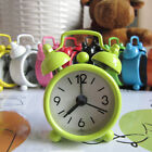Portable Retro Alarm Clock Twin Bell Round Number Table Desk Bed Mini Clock
