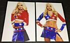 LOT OF 2 ~ USA ALL-AMERICAN CHEERLEADER ~ 4x6 GLOSSY PHOTO SET ~ (#BB5)