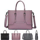 156 Large Capacity Briefcase Shoulder Bag with Padded Compartment Laptop Women