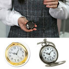 Retro Vintage Men Steampunk Smooth Surface Pendant Chain Classic Pocket Watches image