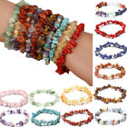 Chakra Chipped Raw Natural Stone Yoga Healing Quartz Crystal Stretch Bracelet image