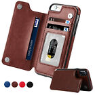 For Samsung Galaxy Note10 Pro S10 Plus S9 S8 S7+ Card Leather Wallet Back Case