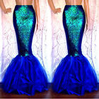 Womens Adults Mermaid Tail Full Skirt Party Maxi Fancy Dress Cosplay Costume
