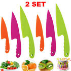 2SET Plastic Fruit Knife Kid Safe Kitchen Cake Bread Lettuce Salad Cutting Knife