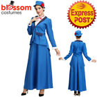 K906 Victorian Nanny Mary Poppins English Maid Ladies Costume Book Week Dress Up