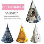 1x Removable Cat Hanging House  Conical Hammock Washable Pet Tent For Cat Dog UK