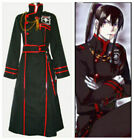 Used, Anime D.Gray-man Yu Kanda Black Red Complete Cosplay Costume for sale  China
