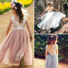 Baby Kid Dress Party Lace Tulle Tutu Flower Girl Wedding Prom Bridesmaid Dresses