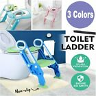 3 Colors Kid Potty Training Seat with Step Stool Ladder for Baby Toddler Toilet image