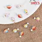 10Pcs Plated Enamel Alloy Hot Air Balloon Charms Pendants DIY Jewelry Findings