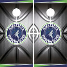 Minnesota Timberwolves Cornhole Wrap NBA Decal Vinyl Metallic  Skin Set YD299 on eBay