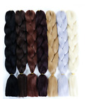 Pure Color Braiding Hair One Piece 23 inch Synthetic High Temperature Extensions