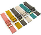 Vintage Style Padded Leather Watch Band 18mm 20mm 22mm 6 Colours C089