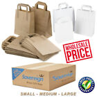 Take Away Food Carrier Bags Brown & White Kraft Paper Bulk Wholesale Trade Price