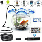 8LED Wireless Endoscope WiFi Borescope Inspection Camera for iPhone Android