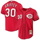 Ken Griffey Jr #30 Cincinnati Reds Classic Cool Base Red Baseball Jersey on Ebay