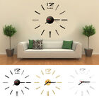 Modern Acrylic DIY Large Number Wall Clock 3D Mirror Surface Sticker Home Decor