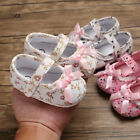 Girls Cute Baby Toddler Nweborn Soft Bow Floral Printing Prewalker Shoes Sandals