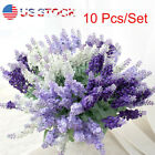 USA 10Heads DIY Artificial Lavender Silk Flower Bouquet Wedding Home Party Decor, used for sale  Pomona