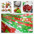 Christmas Ribbon Satin Grosgrain Santa Elf Snowman Printed Ribbon Gift Packaging