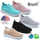 Women's Trainers Casual Sport Running Sneakers Slip On Flat Breathable Shoes USA