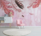 3D Pink Feather B37 Wallpaper Wall Mural Removable Self-adhesive Sticker Zoe