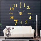 Big Clock Wall Deco Decal Sticker Huge Home 3D DIY Large Room Watch Abstract Hot