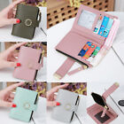 Cute Wallet Women Coin Bag Leather Ladies Simple Bifold Small Purse Mini Handbag image