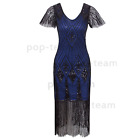 Womens Vintage 1920s Flapper Gatsby 20s Wedding Party Evening Dress Plus Size