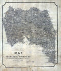 1864 Map of Charlotte County Virginia Family Names Genealogy