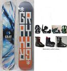 """NEW GRAY """"SHRED"""" SNOWBOARD, BINDINGS, BOOTS PACKAGE - 156cm"""