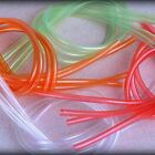 HMH HOOK HOLDER TUBING BRIGHT ASSORTMENT - Large or Small - Fly Tying