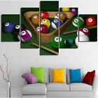 Billiards & Ball Pool Cue 5 Pieces Canvas Wall Art Poster Print Home Decor $71.25 USD on eBay