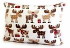 WINTER MOOSE XMAS PRESENTS 4 PIECE SOFT SHEET SET + PILLOWCASES  QUEEN FULL TWIN image