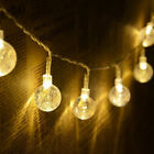 US Christmas 10/20 LED Crystal Ball Outdoor String Light for Outdoor Patio Party