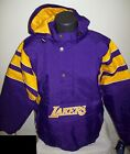 LOS ANGELES LAKERS Starter Hooded Half Zip Pullover Jacket S M L XL 2X PURPLE on eBay