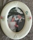 Donegal Parian China Oval Photo Frame - Donegal Rose Pattern