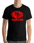 SAN FRANCISCO 49ERS BLACK T-Shirt RED Graphic Cotton Adult Logo S-3XL $29.8 USD on eBay