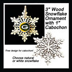 FREE DESIGN > GREEN BAY PACKERS - Snowflake Ornament, Natural or White $5.99 USD on eBay