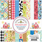 """Doodlebug Double-Sided Paper Pad 6""""X6"""" 24/Pkg-Down On The Farm, 12 Designs/2 Eac"""