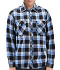 Men's Plaid  Long Sleeve Button Up Premium Cotton Comfortable Flannel Shirt