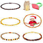 Kyпить Amber Baby Necklace Unisex Teeth Pain Reduce Natural Anti Flammatory Multi Color на еВаy.соm