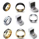 Mens Tungsten Carbide Ring Wedding Promise Band Anniversary Ring Husband Jewlery image