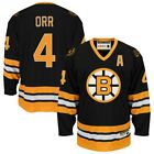 Bobby Orr #4 Boston Bruins Vintage Throwback Black & Yellow Hockey Jersey $65.0 USD on eBay