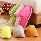 Men Women Soft Warm Indoor Slippers Cotton Sandal House Home Anti-slip Shoes UK