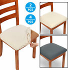 2/4 Pcs Removable Elastic Stretch Slipcovers Dining Spandex Chair Seat Cover US