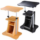 Mobile Laptop Desk Cart Stand Adjustable Computer Laptop Table Home Office Trade
